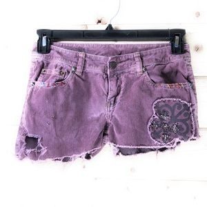 Free People Corduroy Cut-Off Shorts